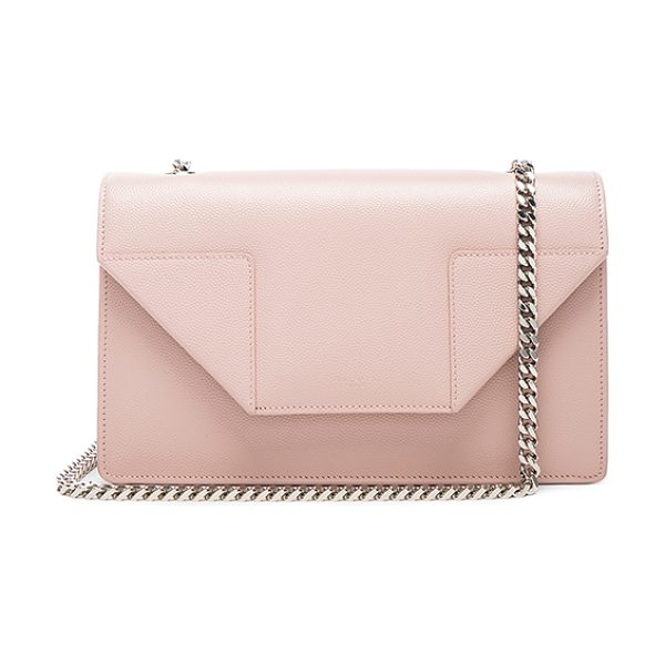 Saint Laurent Small Betty Chain Bag in pink - Pebbled calfskin leather with suede lining and...