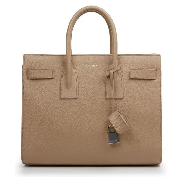 Saint Laurent Small sac de jour tote in darkbeige - Expertly crafted in rich pebbled leather, this...