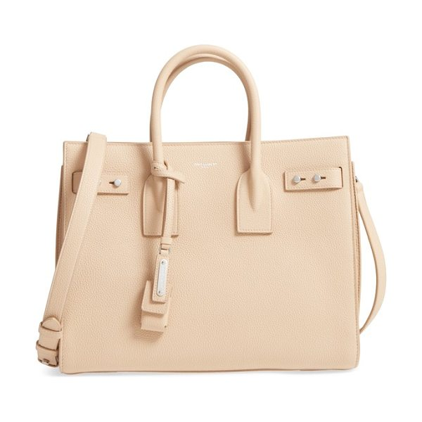 Saint Laurent small sac de jour tote in pink - Subtle and elegant, this beautifully structured little...