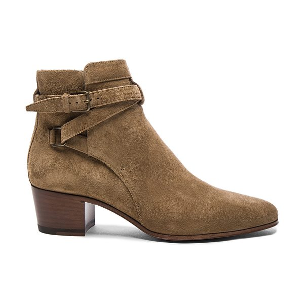 Saint Laurent Suede Blake Boots in neutrals - Suede upper with leather sole.  Made in Italy.  Approx...