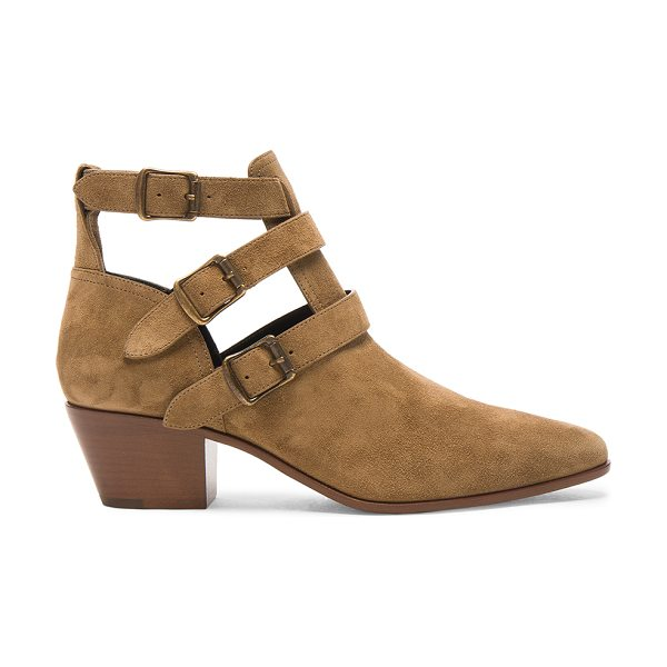 Saint Laurent Suede Rock Boots in neutrals - Suede upper with leather sole.  Made in Italy.  Approx...
