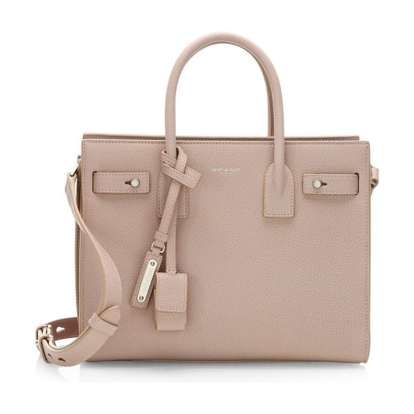SAINT LAURENT baby soft grained leather silver hardware sac de jour - Leather top handle bag with one inside zip pocket....