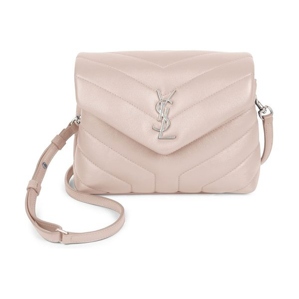 Saint Laurent toy lou lou crossbody flap bag in marblepink