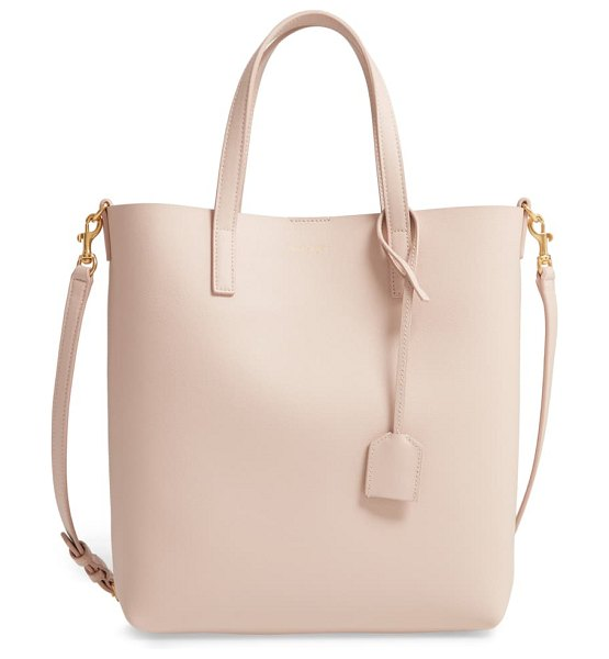 Saint Laurent toy north/south leather tote in pink
