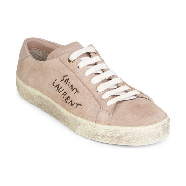 Saint Laurent vintage low top sneakers in beige - Casual cotton sneakers with a weathered finish. Cotton...