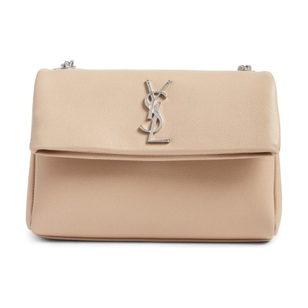 SAINT LAURENT west hollywood calfskin leather messenger bag - An oversized curb-chain strap and iconic monogram...