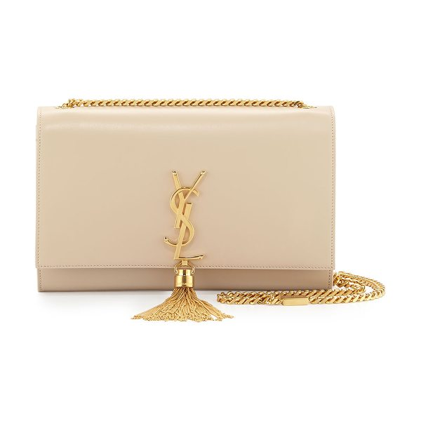 Saint Laurent Monogram medium tassel crossbody bag in beige