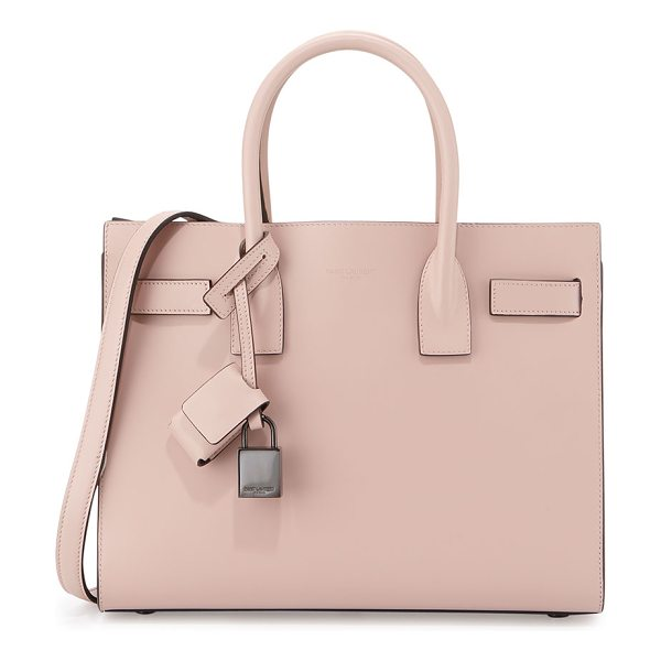 SAINT LAURENT Sac de jour baby satchel bag - Saint Laurent calfskin leather satchel. Rolled tote...