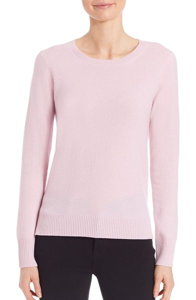 Saks Fifth Avenue Collection cashmere crewneck sweater in lightpink