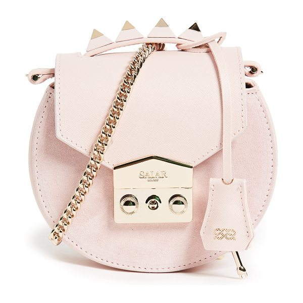 Salar carol cross body bag in pink - A petite Salar handbag crafted in a tonal mix of...