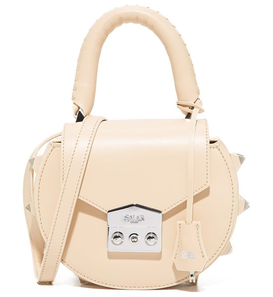 Salar mimi cross body bag in cream - An eye-catching Salar cross-body bag rendered in smooth...