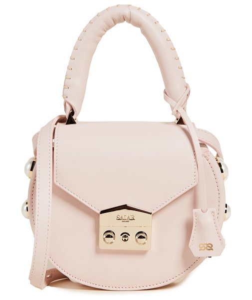 Salar mimi pearl cross body bag in pink - A smooth leather Salar cross-body bag with pearlescent...