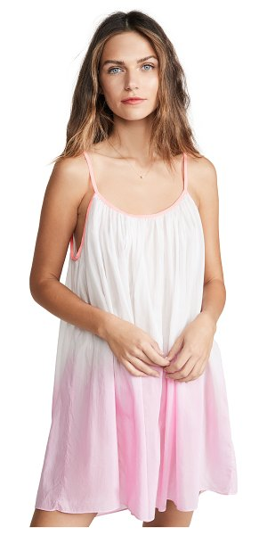 Salua Lingerie babydoll chemise in pink with pink straps