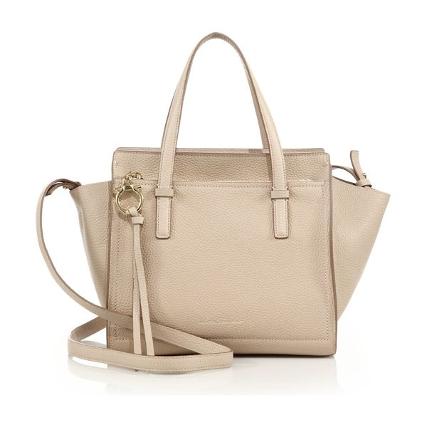 SALVATORE FERRAGAMO amy mini soft leather satchel - Miniature tote crafted of rich pebbled leather. Double...