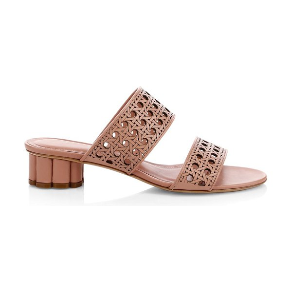 Salvatore Ferragamo belluno laser-cut sandals in antique rose