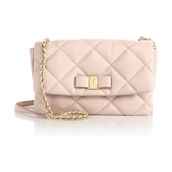 Salvatore Ferragamo Gelly quilted nappa leather shoulder bag in blush