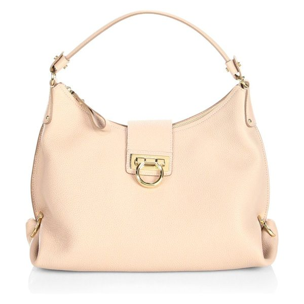 SALVATORE FERRAGAMO mediterraneo vitello small fanisa leather hobo - From the Mediterraneo Vitello Collection. Expertly...