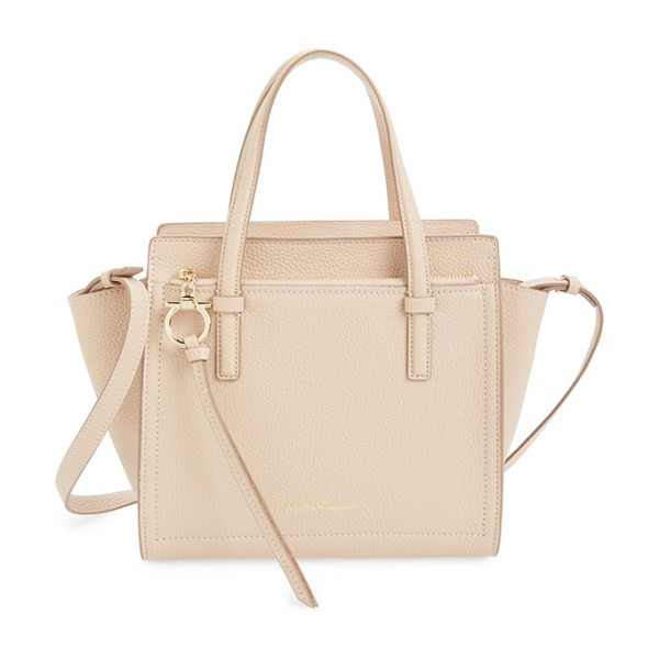 SALVATORE FERRAGAMO small amy pebbled leather tote - Pebbled calfskin leather lends an air of luxury to a...