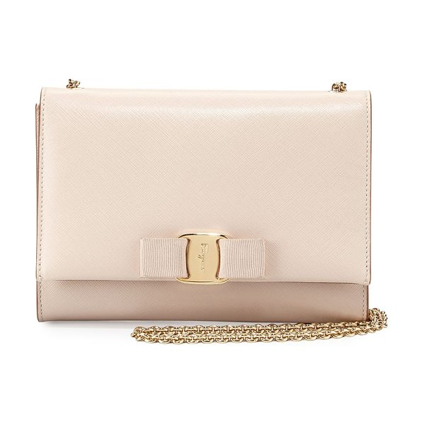 SALVATORE FERRAGAMO Miss Vara Mini Crossbody Bag - Salvatore Ferragamo saffiano leather crossbody bag....