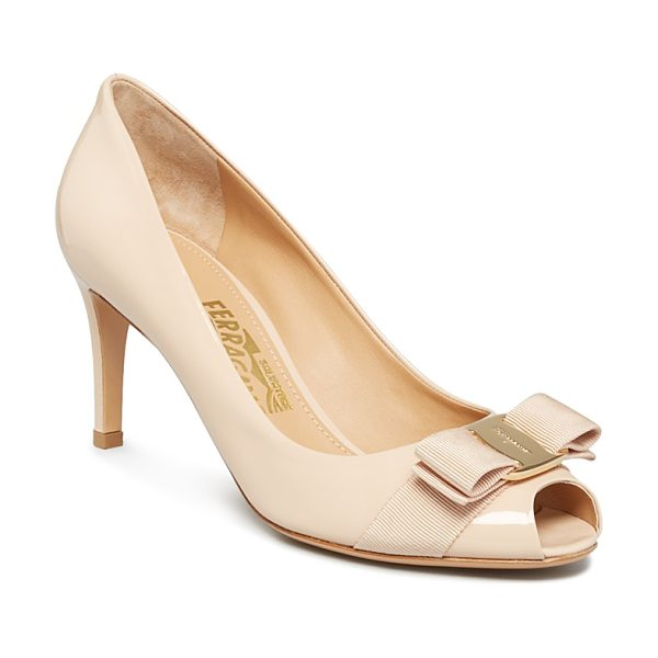 SALVATORE FERRAGAMO Pola Peep Toe Pumps - Salvatore Ferragamo Pola Peep Toe Pumps-Shoes