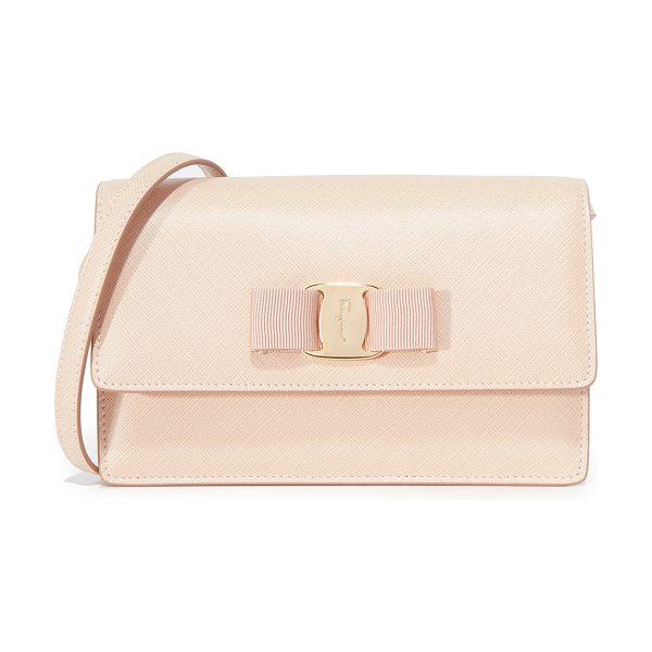 Salvatore Ferragamo miss vara bow cross body bag in new bisque - This petite Salvatore Ferragamo bag can be worn as a...