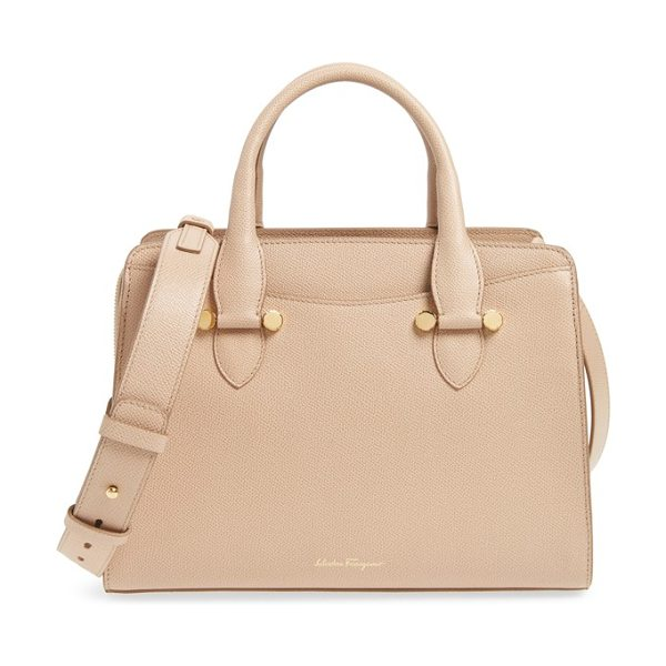 SALVATORE FERRAGAMO small today leather satchel - Finely textured leather offers an air of luxury to a...