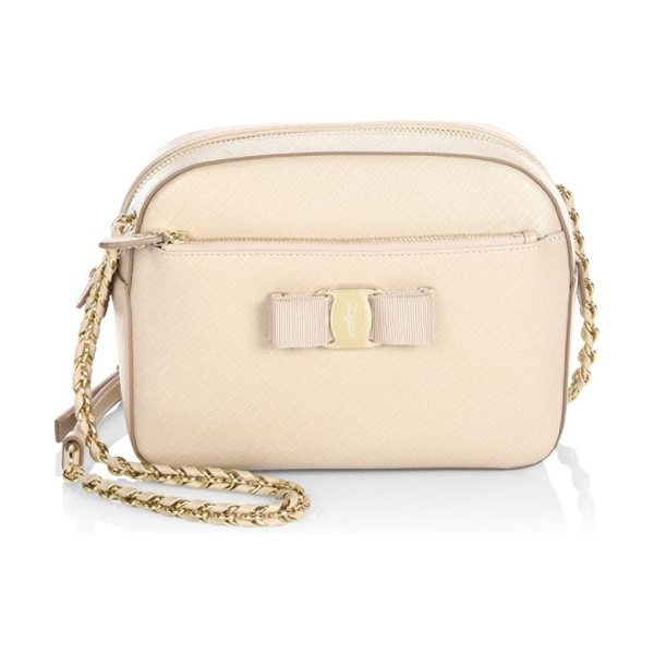 8da19aaec93 Salvatore Ferragamo vara small lydia leather crossbody bag in new bisque -  From the Vara Collection