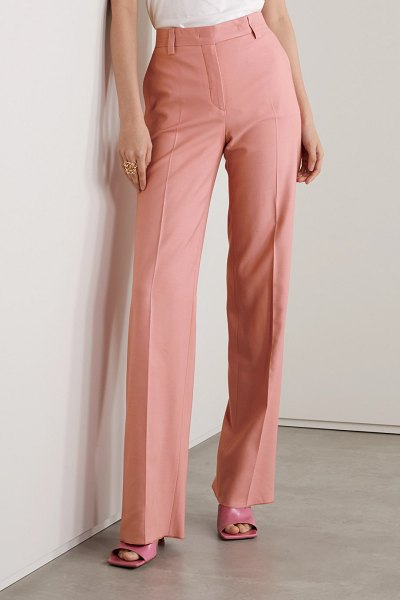 Salvatore Ferragamo woven straight-leg pants in baby pink