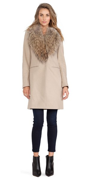 SAM. Crosby Jacket with Asiatic Raccoon Fur Trim - Self: 80% wool 20% nylonInsulation & Lining: 100%...