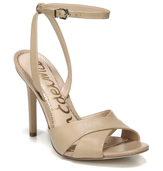 Sam Edelman aly ankle strap sandal in beige - A svelte ankle strap secures your foot in this...
