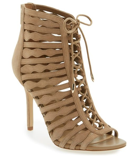Sam Edelman amelia ghillie cage sandal in oatmeal - Shaped straps and ghillie lacing detail a breathtaking...
