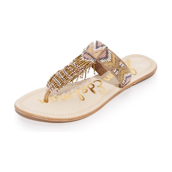 Sam Edelman anella beaded sandals in natural multi