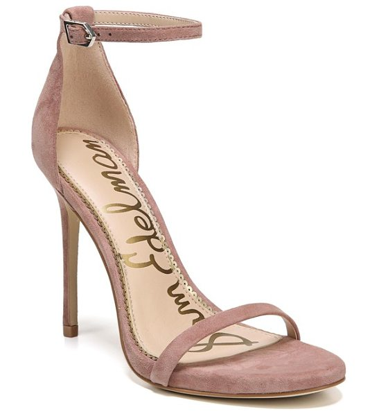 Sam Edelman ariella ankle strap sandal in dusty rose leather