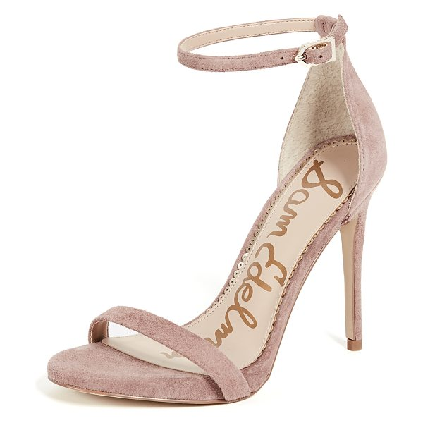 Sam Edelman ariella sandals in dusty rose - Leather: Goatskin Strappy silhouette Stiletto heel...