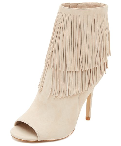 Sam Edelman Arizona fringe booties in summer sand - Fringe accents the cuff of these sophisticated, suede...