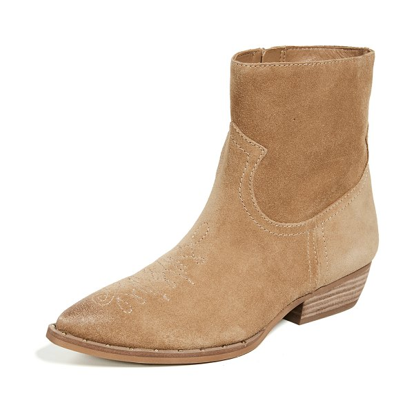 Sam Edelman ava booties in golden caramel