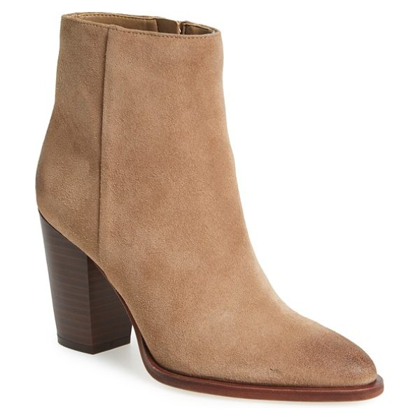 Sam Edelman blake bootie in woodland brown suede - A sleek, side-zip bootie is destined to be a staple in...