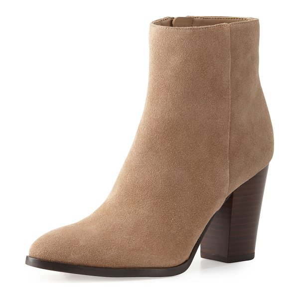 "Sam Edelman Blake suede ankle boot in oatmeal - Sam Edelman suede ankle boot. 3. 5"" stacked block heel;..."