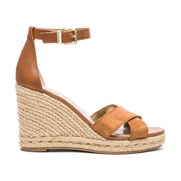 SAM EDELMAN Brenda Wedge - Leather and suede upper with rubber sole. Ankle strap...