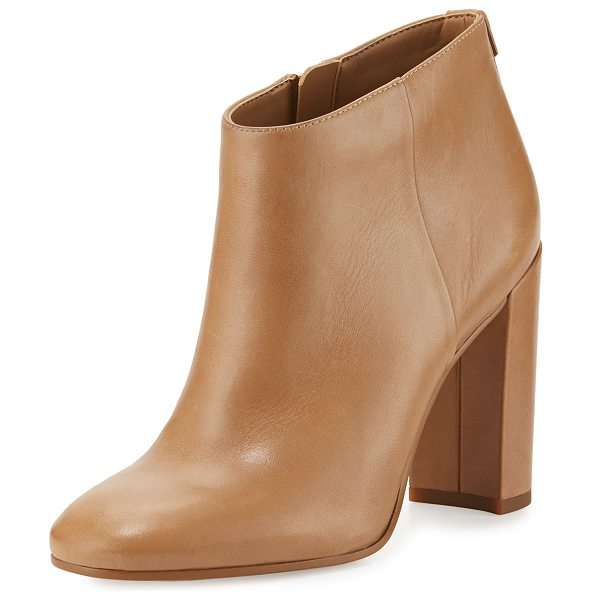 """Sam Edelman Cambell Leather 95mm Ankle Boot in golden caramel - Sam Edelman calf leather bootie. 3.8"""" covered block..."""