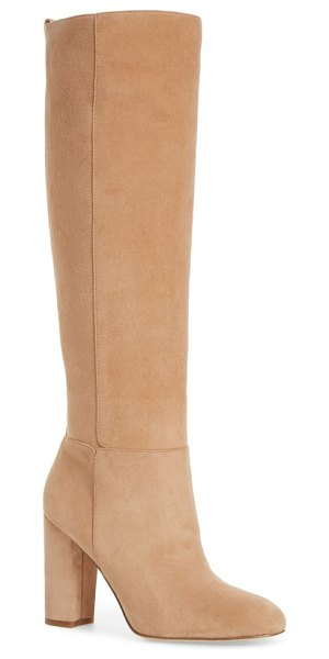 Sam Edelman caprice knee-high boot in beige - Kick your around-town style up a notch with a knee-high...