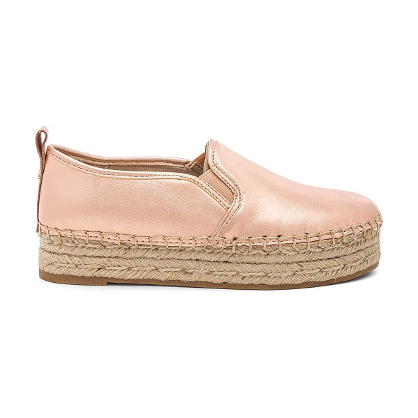 "Sam Edelman Carrin Espadrille in metallic copper - ""Leather upper with rubber sole. Slip-on styling. Jute..."