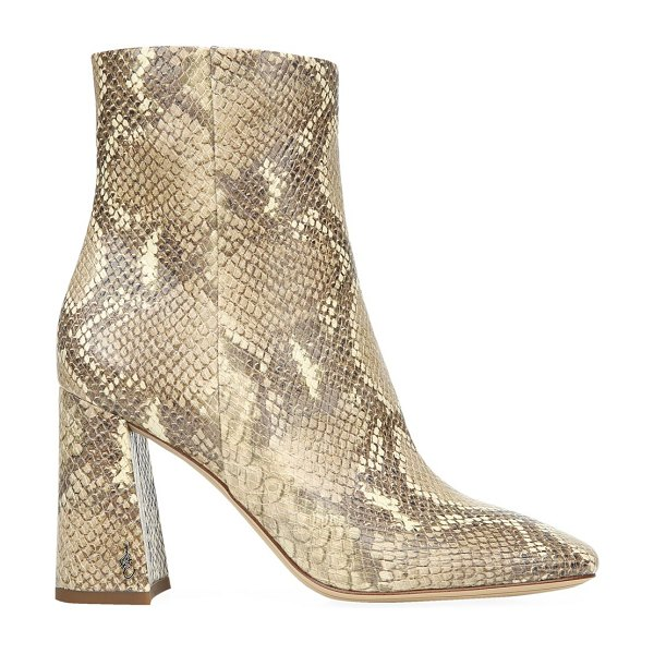 Sam Edelman codie snakeskin-embossed ankle boots in wheat multi