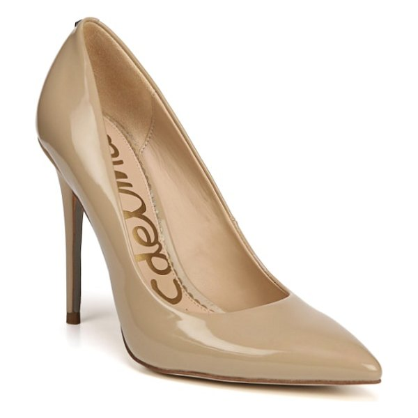 Sam Edelman danna pointy toe pump in beige - Step out in sophisticated style with this shapely pump...