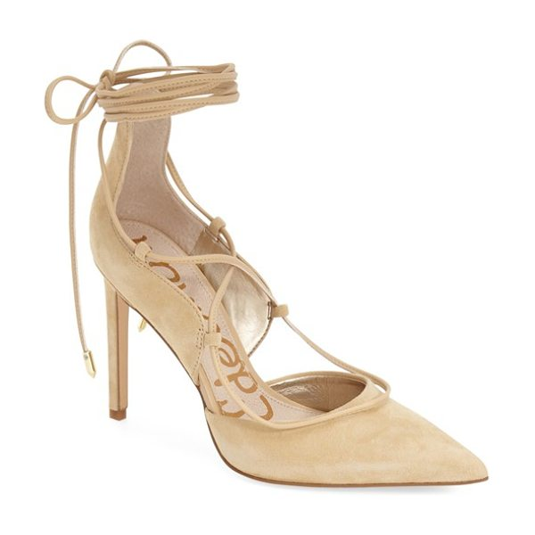 SAM EDELMAN dayna pump - A sinuous wraparound ankle tie amps up the allure of a...