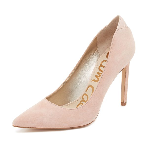 Sam Edelman Dea pumps in seashell pink - Classic, pointed toe Sam Edelman pumps, cut from smooth...
