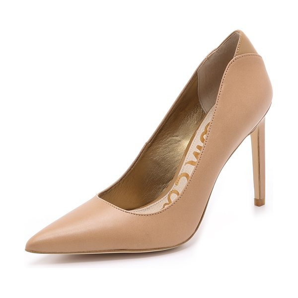 Sam Edelman Dea pumps in golden caramel - Classic, pointed toe Sam Edelman pumps, cut from sturdy...