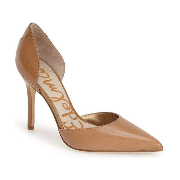 Sam Edelman delilah calf hair dorsay pump in jute - An instep-baring d'Orsay cut adds to the allure of a...