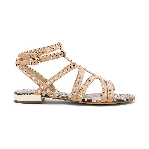 Sam Edelman Demi sandal in beige - Leather upper with man made sole. Ankle strap with...