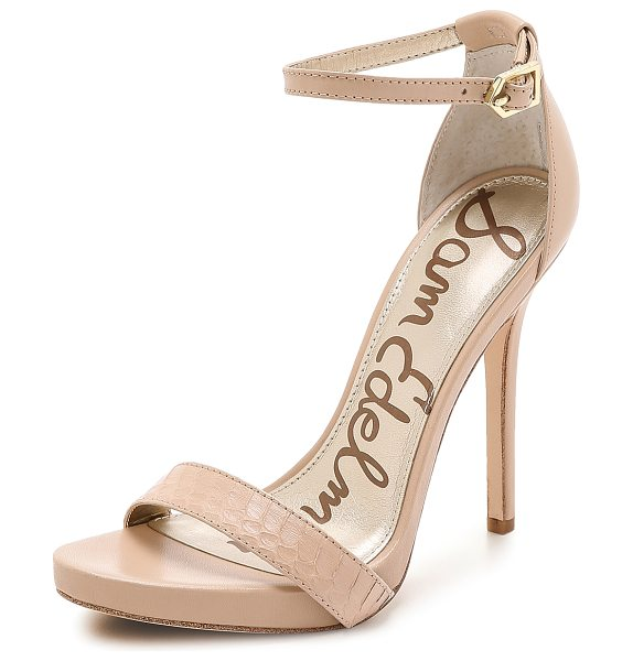 Sam Edelman Eleanor ankle strap sandals in buff nude